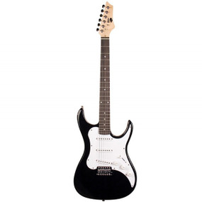 AXL AS-750-3/4BK Headliner SRO Double Cutaway 3/4 Size Electric Guitar, Black Finish (AS-750-3/4BK)