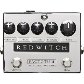 Red Witch Factotum Bass Suboctave Overdrive Effects Pedal