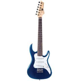 AXL AS-750-3/4MBL Headliner SRO Double Cutaway 3/4 Size Electric Guitar, Metallic Blue Finish (AS-750-3/4MBL)