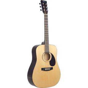 Johnson JG-615-NA Player Series Dreadnought Acoustic Guitar, Natural