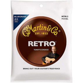 Martin MTR13 Retro Tony Rice Signature Monel Bluegrass Acoustic Guitar Strings