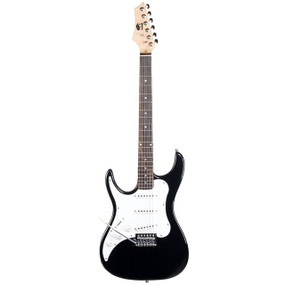 AXL AS-754-BK Headliner SRO Left-Handed Double Cutaway Electric Guitar, Black Finish (AS-754-BK)