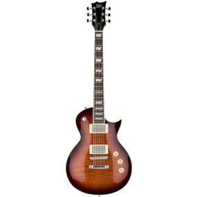 ESP LTD EC-256FM Flamed Maple Electric Guitar, Dark Brown Sunburst