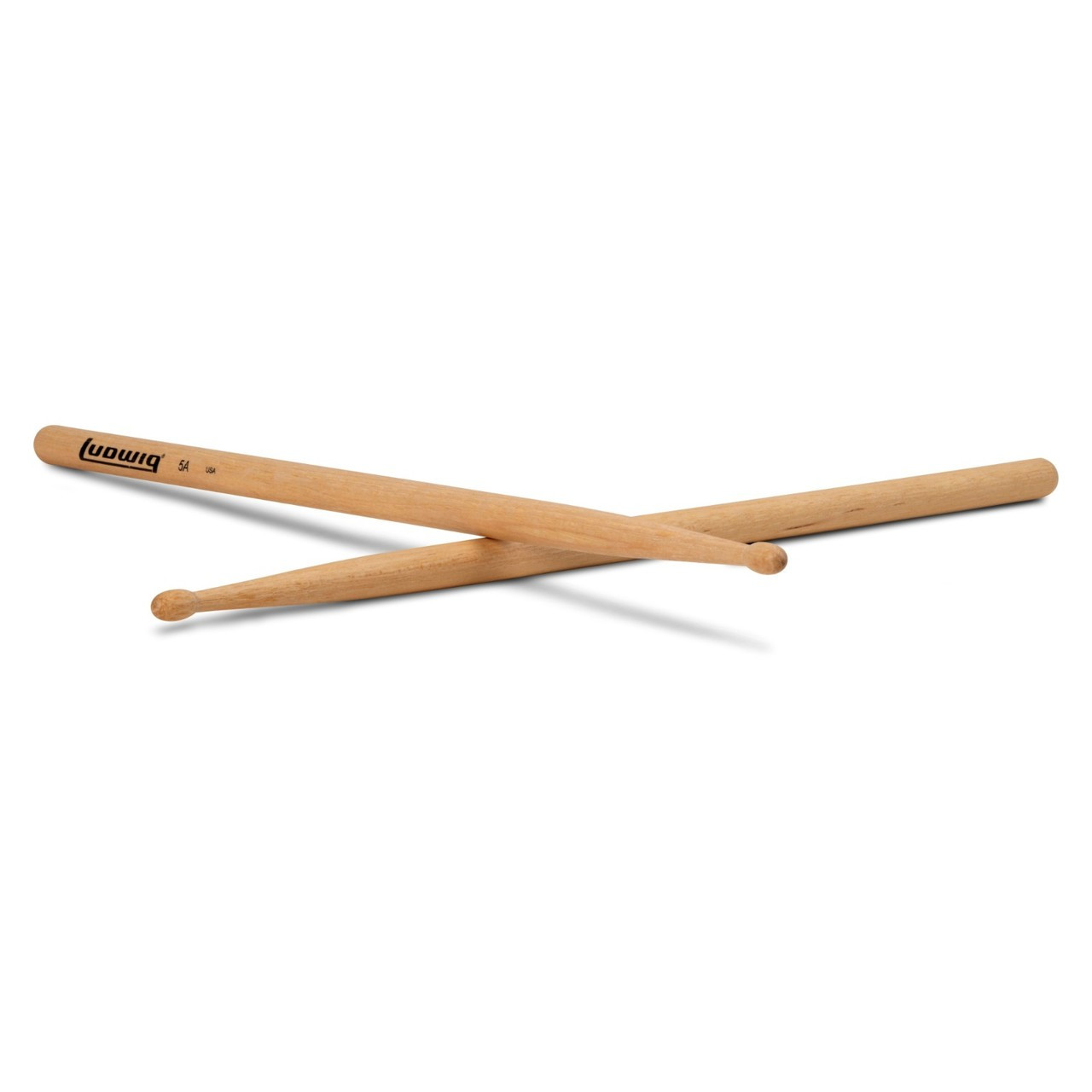 New Ludwig 7A Wood Tip Olive Bead Drumsticks