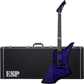 ESP LTD James Hetfield Limited Edition Snakebyte SE Baritone Electric Guitar, See Thru Purple Sunburst (LSNAKEBYTESEBARITONE)