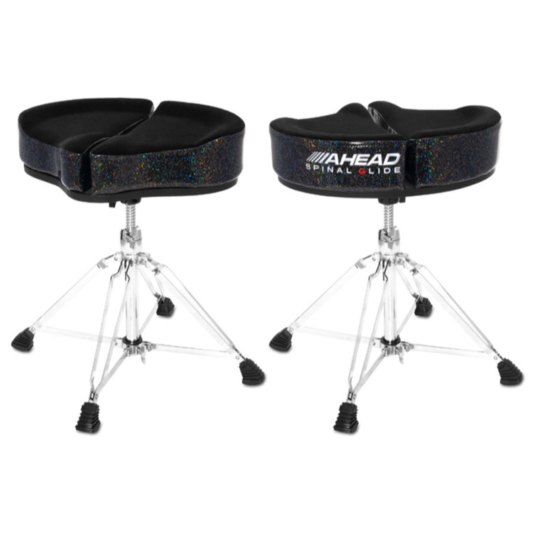 Ahead Spinal-G Saddle Drum Throne, Black Sparkle