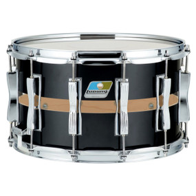 "Ludwig LS1284XXG Black Cortex Slotted Coliseum Snare Drum, 8""x 14"""