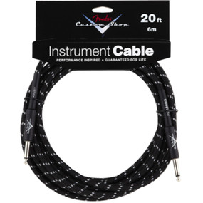 Fender Custom Shop 20' Black Tweed Instrument Cable (099-0820-052)