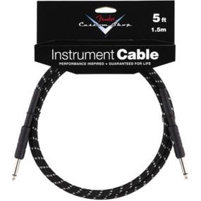 Fender Custom Shop 5' Black Tweed Instrument Cable (099-0820-034)
