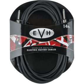 EVH Premium 14' Straight Guitar Cable, Black (022-0140-000)