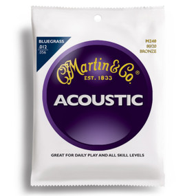 Martin M240 80/20 Bronze Bluegrass Acoustic Guitar Strings, Medium/Light