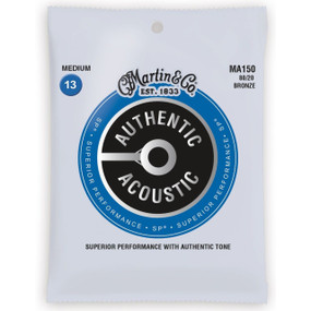 Martin MA150 Authentic Acoustic SP 80/20 Bronze Guitar Strings- Medium .013-.056