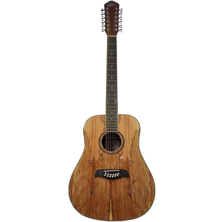 Oscar Schmidt OD312SM Spalted Maple Top 12-String Acoustic Guitar