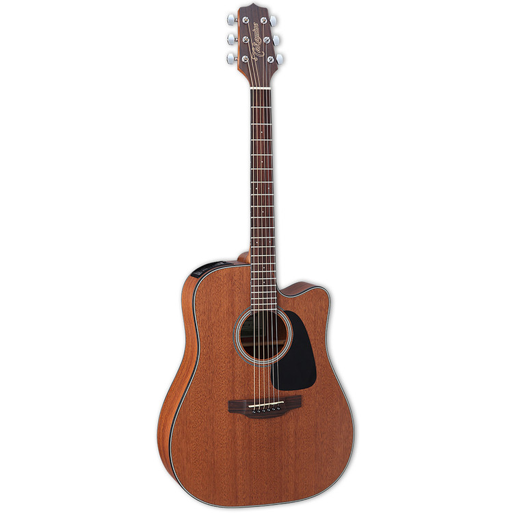Takamine GD11MCE Dreadnought All Mahogany Acoustic Electric Guitar, Natural Satin