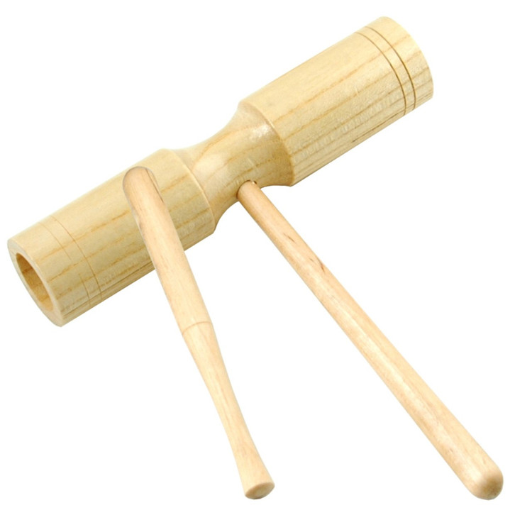 Trophy 3461 Double Tone Wood Block and Mallet, Natural