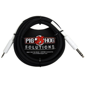 "Pig Hog PX48J10 Solutions 1/4"" TRS TO 1/8"" Mini Adapter Cable- 10ft"