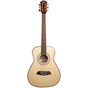 Oscar Schmidt OGHS 1/2 Size Steel String Acoustic Guitar, Natural