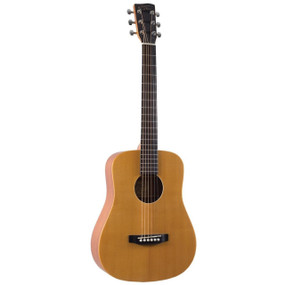 Recording King RD-A3MQ EZ Tone Mini-Dreadnought Acoustic Guitar with Gig Bag, Natural