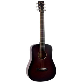 Recording King RD-A3MQ EZ Tone Mini-Dreadnought Acoustic Guitar with Gig Bag, Brownburst