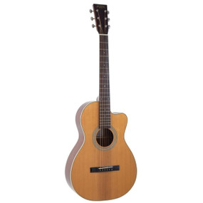 Recording King RP1-16C Schoenberg Torrefied Adirondack Spruce Acoustic Guitar, 0 Body Cutaway