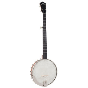 Recording King RK-OT25E-BR Madison Open Back Acoustic Electric Banjo, Scooped Fretboard