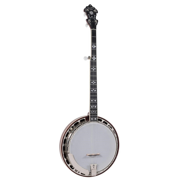 Recording King RK-ELITE-85 Flamed Maple Acoustic Resonator Banjo with Case