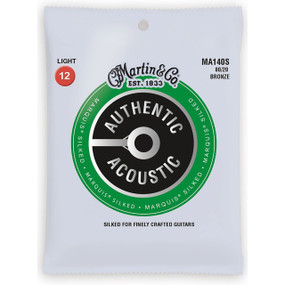 Martin MA140S Acoustic Marquis Silked Guitar Strings, Light 12-54