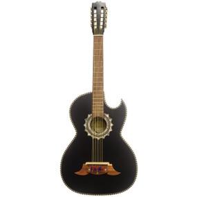 Paracho Elite Morelia 10-String Classical Bajo Quinto Acoustic Guitar, Satin Ebony (MORELIA)