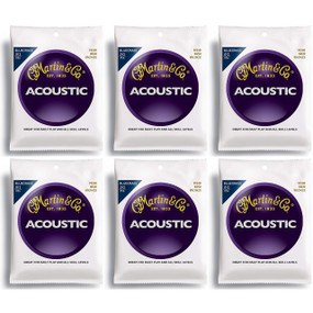 Martin M240 80/20 Bronze Bluegrass Acoustic Guitar Strings, 6 PACK