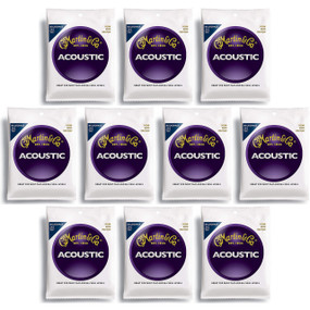 Martin M240 80/20 Bronze Bluegrass Acoustic Guitar Strings, 10 PACK