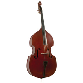 Palatino VB-004 Crack-Resistant Upright Bass with Padded Bag, 1/4 Size