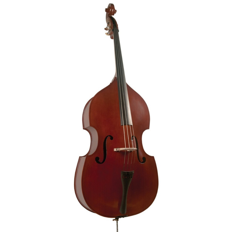 Palatino VB-004 Crack-Resistant Upright Bass with Padded Bag, 3/4 Size