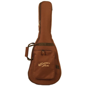 Recording King CG-250K-P Deluxe Gig Bag for 0-Body Guitar, Brown