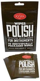 Kyser K500WIPE Wood Polish Wipes for Instruments, 10 Individually Sealed Wipes