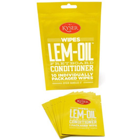 Kyser K500WIPE Lem-Oil Fretboard Conditioner Wipes, 10 Individually Sealed Wipes