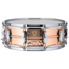 "Ludwig LC660K Copper Phonic 5""x 14"" Hammered Shell Snare Drum with Imperial Lugs"