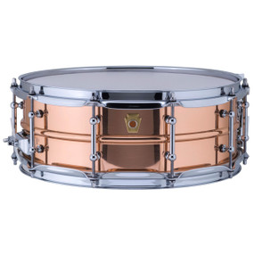 "Ludwig LC660T Copper Phonic 5""x 14"" Smooth Shell Snare Drum with Tube Lugs"