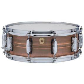 "Ludwig LC661 Copper Phonic 5""x 14"" Smooth Shell Snare Drum with Imperial Lugs, Raw Patina"