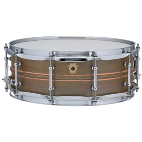 "Ludwig LC661T Copper Phonic 5""x 14"" Smooth Shell Snare Drum with Tube Lugs, Raw Patina"