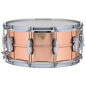 "Ludwig LC662 Copper Phonic 6.5""x 14"" Smooth Shell Snare Drum with Imperial Lugs"