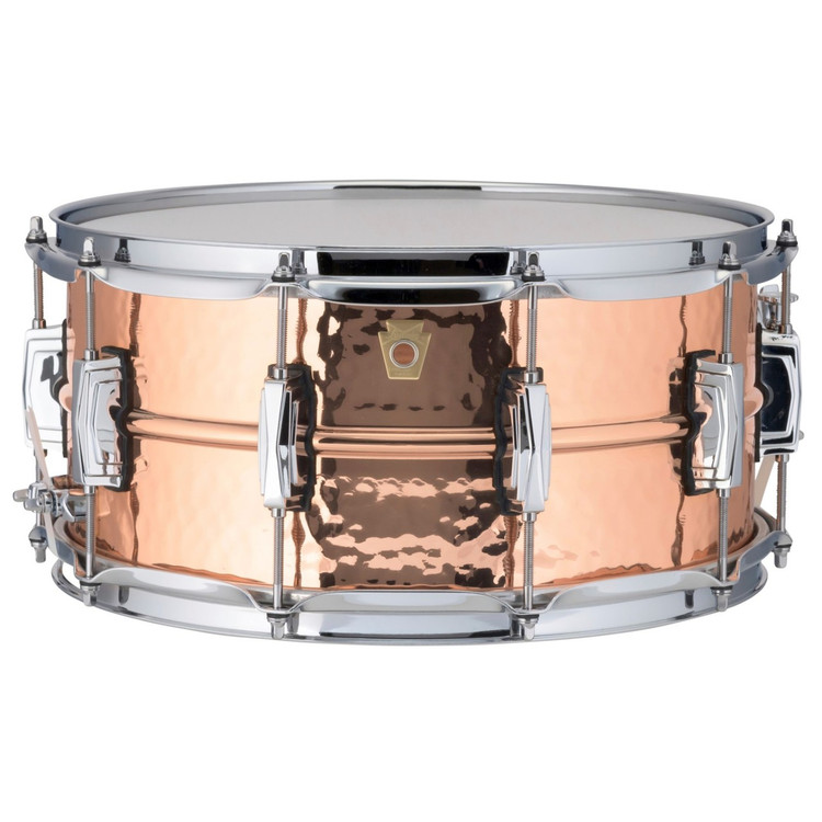 "Ludwig LC662K Copper Phonic 6.5""x 14"" Hammered Shell Snare Drum with Imperial Lugs"