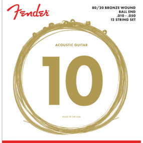 Fender 80/20 Bronze 12-String Acoustic Guitar Strings, .010-.050 (073-0070-423)
