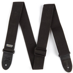 Dunlop DD40-09BK Double D Series X-Long Classic Guitar Strap, Black