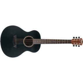 Washburn AGM5BMK Apprentice G-Mini Grand Auditorium Acoustic Guitar w/ Gig Bag, Black Matte