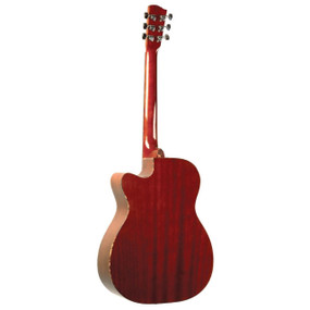 Savannah SGO-16CE Mahogany Top Cutaway 000-Body Acoustic Electric Guitar, Natural
