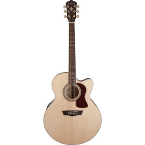 Washburn HJ40SCE Heritage Jumbo Acoustic Electric Guitar, Natural