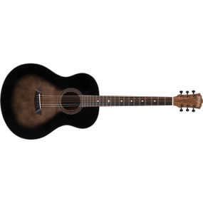 Washburn Bella Tono Novo S9 Studio Acoustic Guitar, Gloss Charcoal Burst