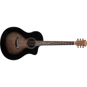 Washburn Bella Tono Vite S9V Studio Cutaway Acoustic Electric Guitar, Gloss Charcoal Burst