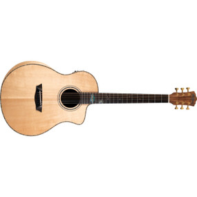 Washburn Bella Tono Allure SC56SCE Studio Cutaway Acoustic Electric Guitar, Natural