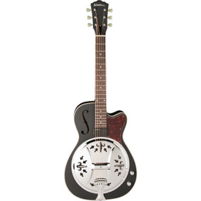 Washburn Americana R60BCE Richie Owens Signature Resonator, Matte Black